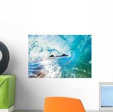 Inside An Ocean Wave Wall Decal Wallmonkeys Com