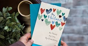 write in an anniversary card to husband