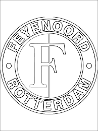 Kleurplaat Van Feyenoord Logo Gratis Kleurplaten