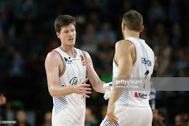 Cameron Gliddon of the Bullets substitutes with teammate Adam Gibson...  News Photo - Getty Images