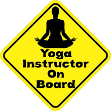 5in X 5in Yoga Instructor On Board Sticker Yoga Instructors Vinyl Bumper Stickers Black Letter