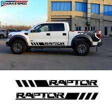 Sport Raptor Stripes Car Door Side Skirt Sticker Auto Body Customized Stickers For Ford F 150 Ranger Pick Up Trunk Decor Decals Car Stickers Aliexpress