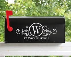 Pin By Jennifer Mclucas On Diy Mailbox Mailbox Monogram Mailbox Decals Mailbox Numbers