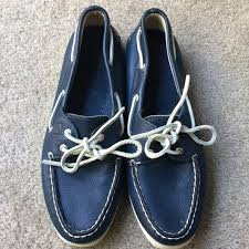 sperry shoes top sider navy blue