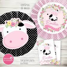 Kit Imprimible Personalizado La Vaca Lola Cumpleanos 430 00 En