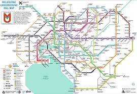 The Melbourne Subway Map (a rail ...