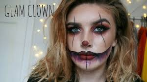 easy glam clown makeup