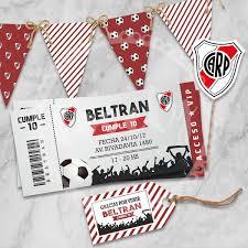 Kit Imprimible Futbol River Cumpleanos Deco Candy Bar 430