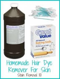 tips for removing hair dye from skin