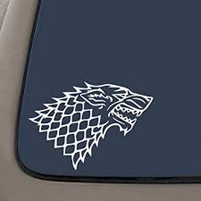 Amazon Com Dd027 Stark Wolf Game Of Thrones Inspired Decal Sticker 7 Inches By 4 8 Inches Premium Quality White Vinyl Automotive