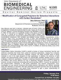 BME Seminar Series – Alex Adronov, PhD