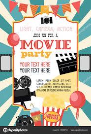Birthday Party Invitation Card Movie Party Hollywood Party