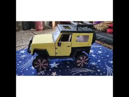 Miniature Jeep Wrangler || monster car || handmade || Avi saxena || -  YouTube