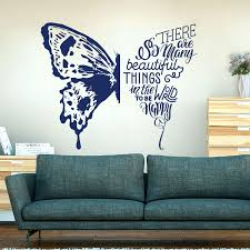 Butterfly There Are So Many Beautiful Things In The World To Be Happy Wall Sticker Bedroom Butterfly Love Quote Wall Decal Wall Stickers Aliexpress