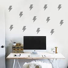 50 Off Small Lightning Decorate Your House Removable Wall Stickers Diy Flash Lightning Decals For Family Love Rosegal