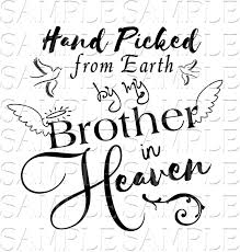 Download In Loving Memory Brother Sister Angel Loss Svg Etsy In 2020 Memorial Decals Brother Sister Brother