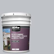 Behr Premium 5 Gal N510 2 Galactic Tint Elastomeric Masonry Stucco And Brick Exterior Paint 06805 Exterior Paint Brick Exterior