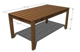 pdf plans wood patio dining table plans