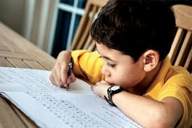 Image result for Indian boy does homework""