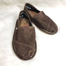 toms shoes brown corduroy slipon mens