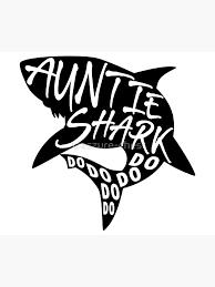 Auntie Shark Baby Shark Minimal Lyrics Shirt Greeting Card By Treszure Chest Redbubble