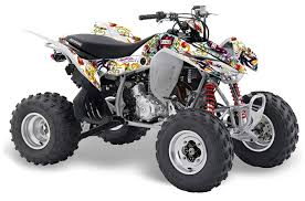 Honda Trx 400 Ex Atv Graphic Kit 2008 2016 Ed Hardy Love Kills White