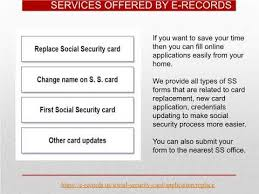 social security card replacement
