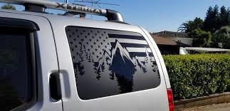 All Years American Mountian Flag Xterra Decals Stickers Vinyl Niss Onlineamericanstore