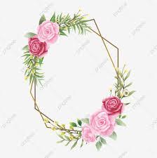 إطار دعوة زفاف مع ورود وأوراق بألوان مائية زهرة الإطار حفل زواج