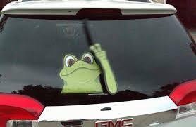 Peace Frog Waving Wipertags With Decal F Buy Online In Gibraltar At Desertcart