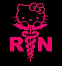 Hello Kitty Nurse Rn Car Decal Stickers Sticker Flare Llc