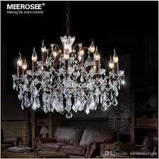 vintage crystal loft chandelier light