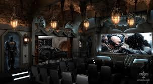dark knight themed home theater
