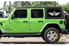 Military Star Jk Wrangler Window Graphics Decal Compatible With Jeep