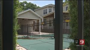 Video Property Owner Builds Fence Through Pool Youtube