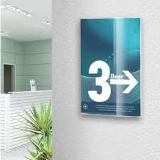 frameless sign holders acrylic wall