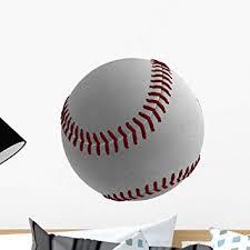 Amazon Com Wallmonkeys Fot 71801645 18 Wm3847 3d Baseball Ball Peel And Stick Wall Decals H X 18 In W 18 18 W Small Home Kitchen