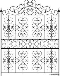 Wrought Iron Gate Door Fence Window Grill Railing Design Ve Buy This Stock Vector And Explore Similar Vectors At Adobe Stock Adobe Stock