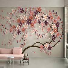 3d Nordic Flower Wallpaper Murals For Living Room Home Wall Mural Decals Wall Art Floral Wall Paper Contact Paper Custom Wallpapers Aliexpress