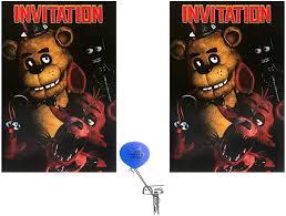 Amazon Com Cinco Noches En Freddys Invitaciones 16 Invitados