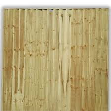 Feather Edge Fence Panel Fully Framed Tanalised 6ft X 6ft