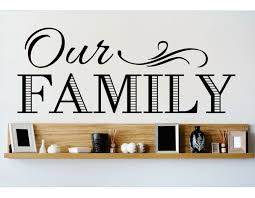 Design With Vinyl Our Family Wall Decal Wayfair