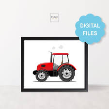 Tractor Printable For Kids Room Tractor Nursery Decor For Etsy