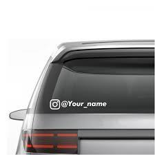 Custom Instagram Username Ig Stickers Decals