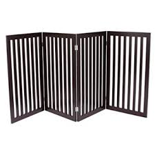 Internet S Best Traditional Pet Gate 4 Panel 36 Inch Tall Fence Free Standing Folding Z Shape Indoor Doorway Hall Stairs D