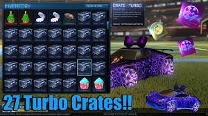 Epic Rocket League 27 Turbo Crate Opening Mystery Decal Painted Car Youtube
