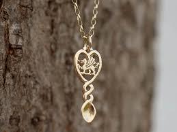 9ct rhiannon welsh gold love spoon