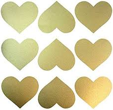 Amazon Com Easy Peel Stick Gold Wall Heart Shape Decals 40 Decals Safe On Walls Paint Remova Vinyl Wall Decals Gold Heart Wall Decals Heart Wall Decal
