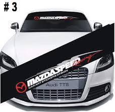 Amazon Com Tuning Store Mazdaspeed Front Window Windshield Black Vinyl Banner Decal Sticker For Mazda 3 Quality Accessories For Car Tuning Home Kitchen
