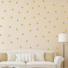 Polka Dot Wall Stickers Gold Decal Kid Vinyl Art Home Decor Spots Mural 100pcs Ebay